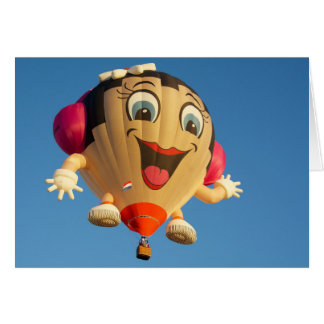 De gelukkige ballon van het Meisje Kaart