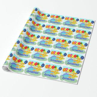 De gelukkige Ballons van de Dinosaurussen van de Inpakpapier