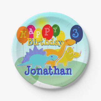 De gelukkige Ballons van de Dinosaurussen van de Papieren Bordje