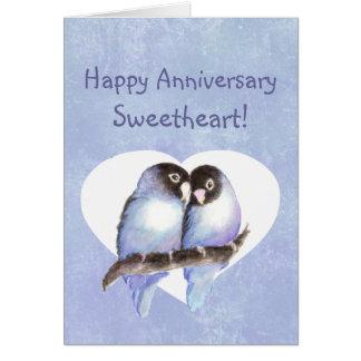De gelukkige Blauwe Dwergpapegaaien van het Liefje Briefkaarten 0