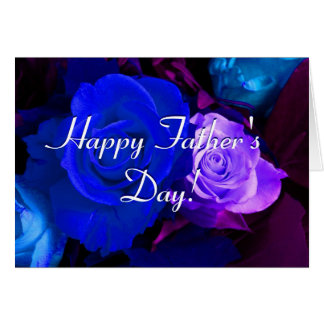 De gelukkige Blauwe Paarse Rozen van het Vaderdag Wenskaart