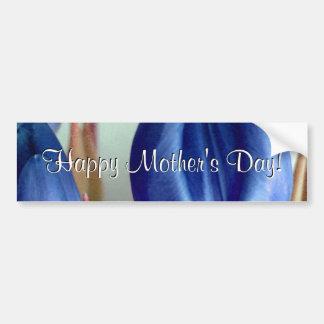 De gelukkige Blauwe Tulpen van het Moederdag Bumpersticker