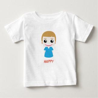De gelukkige Blauwe vectorT-shirt van het Kind Baby T Shirts