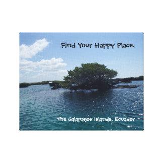 De gelukkige Boom Ecuador van de Galapagos van de Canvas Print