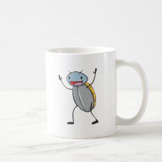 De gelukkige Cartoon van de Kakkerlak van het Koffiemok