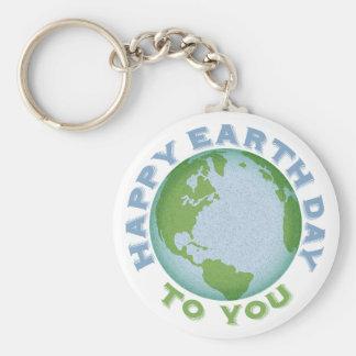 De gelukkige Dag van de Aarde Sleutelhanger