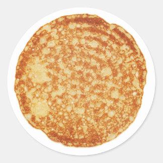 De gelukkige Dag van de Pannekoek! Ronde Sticker
