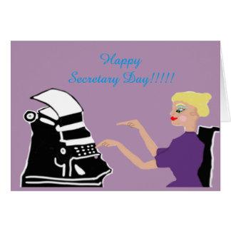 De gelukkige Dag van de Secretaresse Kaart