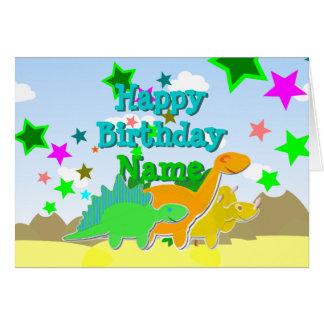 De gelukkige Dinosaurussen van de Verjaardag Uw Briefkaarten 0