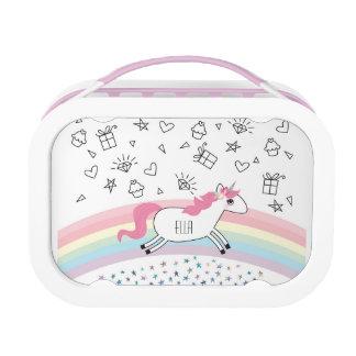 De gelukkige doos van de de naamlunch van de lunchbox