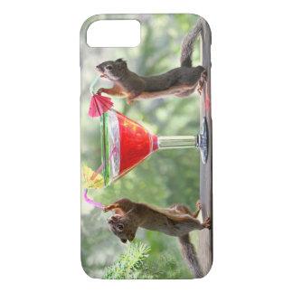 De gelukkige Eekhoorns van het Uur iPhone 8/7 Hoesje