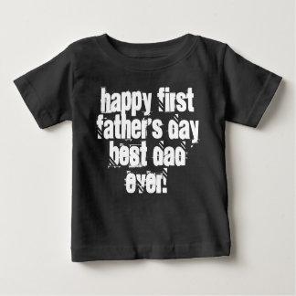 De gelukkige Eerste Typografie van de Papa van het Baby T Shirts