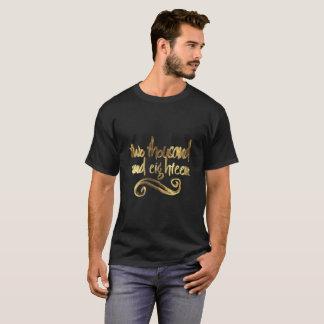 De gelukkige Elegante Zwarte Gouden Typografie van T Shirt