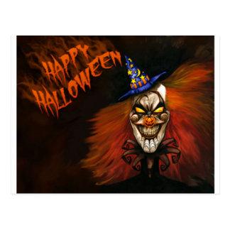 De gelukkige Enge Clown van Halloween Briefkaart