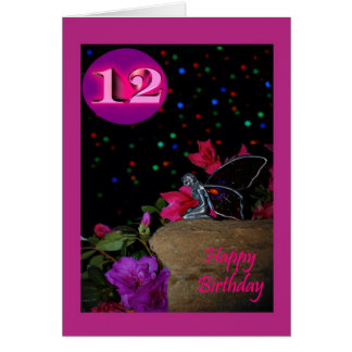 De gelukkige fee van de Verjaardag faerie 12 12de Kaart