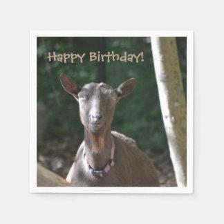 De gelukkige Geit van de Verjaardag Papieren Servet