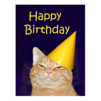 De gelukkige Gelukkige Verjaardag van de kat Briefkaart