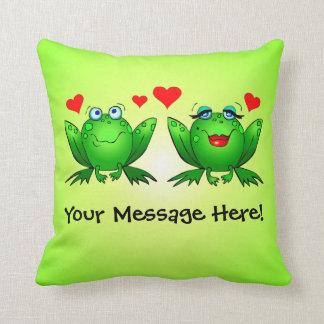 De gelukkige Groene Harten van de Liefde van de Sierkussen