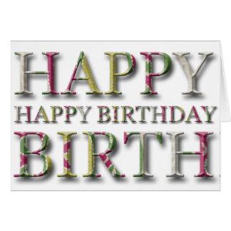 De gelukkige Groet van de Verjaardag met brieven Wenskaart
