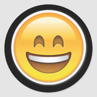 de gelukkige grote stickers van glimlachemoji
