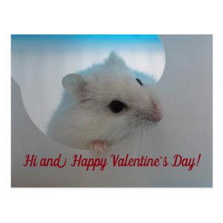 De gelukkige Hamster van de Valentijnsdag Briefkaart