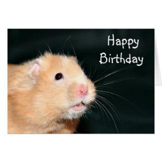 De gelukkige hamster van de Verjaardag Briefkaarten 0