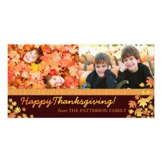 De gelukkige Herfst van de Thanksgiving verlaat Fo Kaart