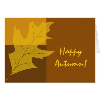De Gelukkige Herfst van het Blok van de Kleur van Briefkaarten 0