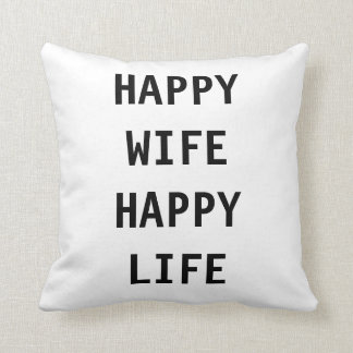 De gelukkige Humor van het Leven van de Vrouw Sierkussen