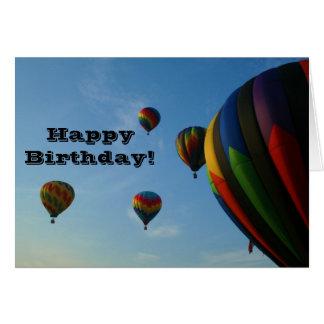 De gelukkige Kaart van de Ballons van de Verjaarda