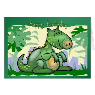 De gelukkige Kaart van de Dinosaurus van de