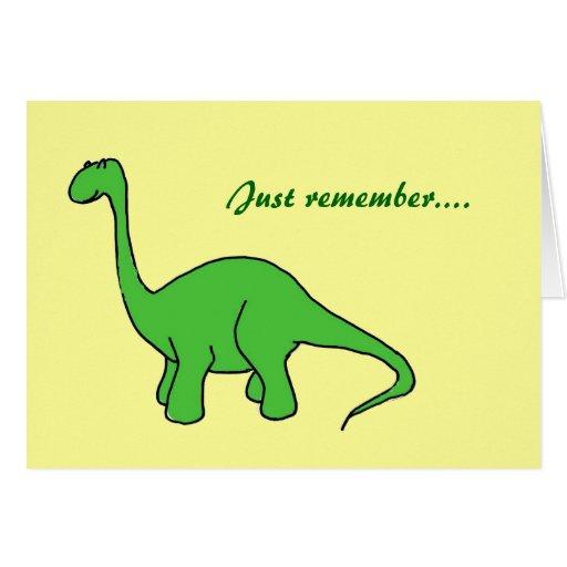 De gelukkige Kaart van de Oude dag van de Dinosaur