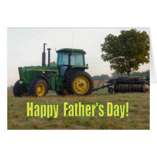 De gelukkige Kaart van de Tractor van het Vaderdag
