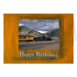 De gelukkige Kaart van de Trein van de Verjaardag