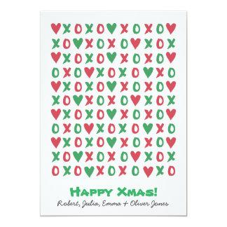 De Gelukkige Kaart van de Vakantie van Kerstmis 12,7x17,8 Uitnodiging Kaart