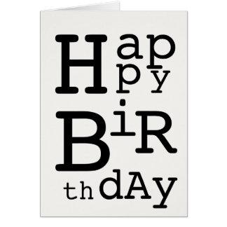 De gelukkige Kaart van de Verjaardag (DaDa)