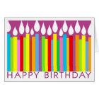 De gelukkige Kaart van de Verjaardag met Algemene