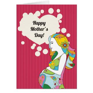 De gelukkige kaart van het Moederdag voor moeder