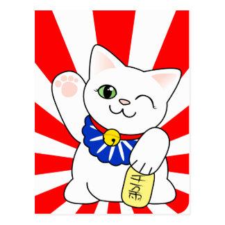 De Gelukkige Kat van Neko van Maneki Wenskaart