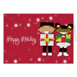 De gelukkige Kerstkaart van het Vakantie Briefkaarten 0