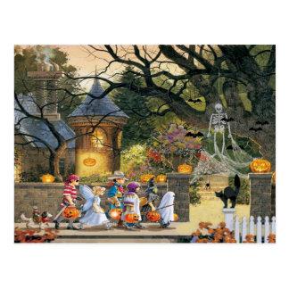 De gelukkige Kinderen van Halloween Briefkaart