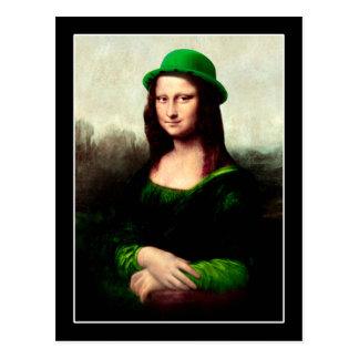 De gelukkige Klaver van de Dag van Mona Lisa St Briefkaart