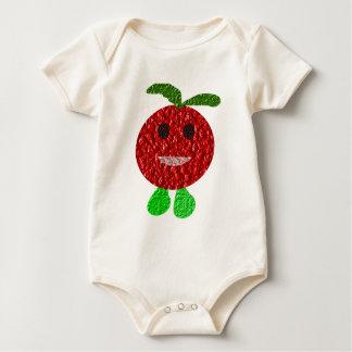 De gelukkige Kleding van het Baby van de Tomaat Baby Shirt