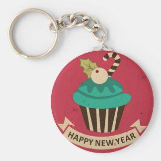 De gelukkige Knoop Keychain van Cupcake van het Sleutel Hangers