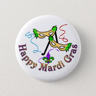De gelukkige Knoop van Mardi Gras Ronde Button 5,7 Cm