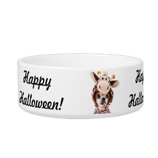 De gelukkige Kom van het Huisdier van Halloween