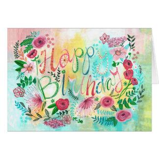 De gelukkige Lente van de Verjaardag bloeit het Kaart