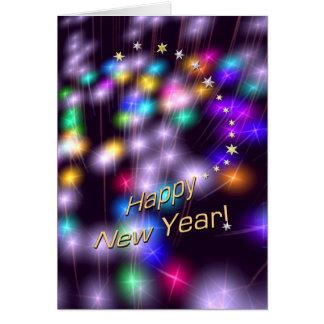 De gelukkige Lichten van de Ster van het Nieuwjaar Wenskaart
