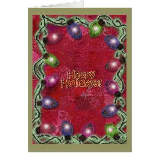 De gelukkige Lichten van Kerstmis van het Vakantie Kaart