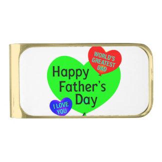 De gelukkige Liefde van de Dag van Vaders Vergulde Geldclip